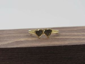 Size 6 14K Yellow Gold Double Heart Love Band Ring Vintage Estate Wedding Engagement Anniversary Elegant Beautiful Everyday Unique Statement for Sale in Lynnwood, WA
