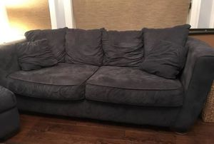 Blueish grey couch, chaise and ottoman for Sale in Columbus, OH