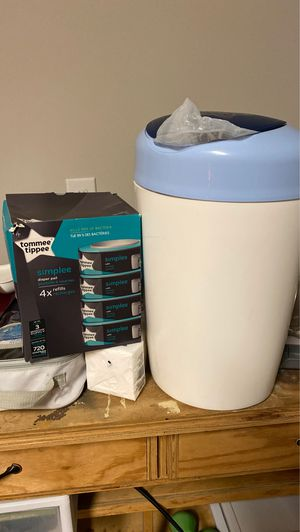 Diaper trash can and bags for Sale in Prairieville, LA