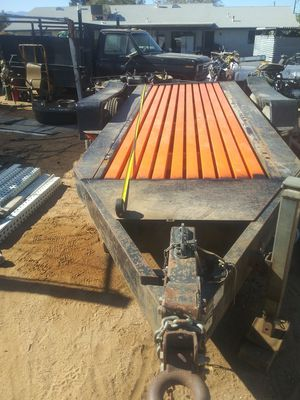 16k capacity 13ft long x 5ft wide bobcat heavy machinery welder etc heavy duty equipment bill of sale tires are good trailer traila for Sale in Hesperia, CA