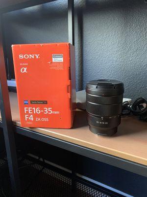 Sony Zeiss 16-35mm F4 lens for Sale in Oakley, CA