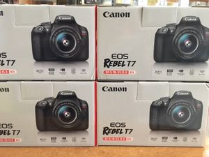 Canon EOS Rebel T7 DSLR Camera 24.1-megapixe with 18-55mm Lens - Black ((PRICE NOT NEGOTIABLE ) for Sale in Queens, NY