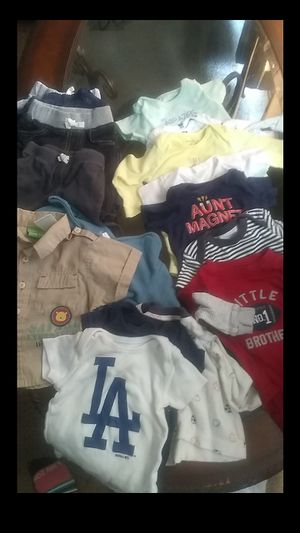 Baby boy clothes 0- 6 mths for Sale in Fontana, CA