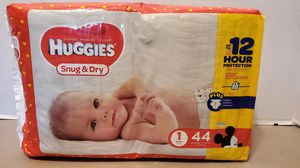 HUGGIES SNUG & DRY SIZE 1 for Sale in Portsmouth, VA