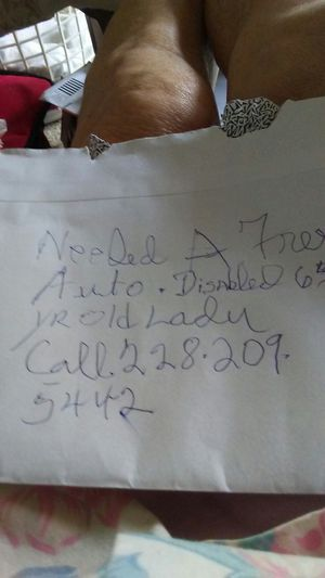 Free auto 64 yr old lady may god bless you for Sale in Biloxi, MS