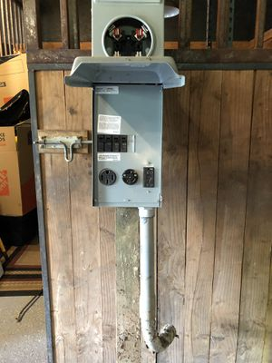 Temporary 50 amp Electric Power Post with Digital Meter for Sale in Oregon City, OR