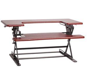 Halter ED-600 Height Adjustable Desk Sit / Stand Desktop (Cherry) for Sale in Austin, TX
