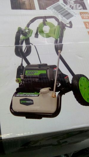 Greenworks 2000 PSI premium electric pressure washer retails for 200 dollars for Sale in Portland, OR