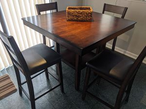 Counter Height real wood pub style kitchen table set for Sale in Raleigh, NC
