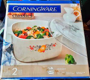 Huge 5 at. Corelle pyrex ABUNDANCE fruit patterned lidded casserole MIB unused ! for Sale in Saginaw, MI