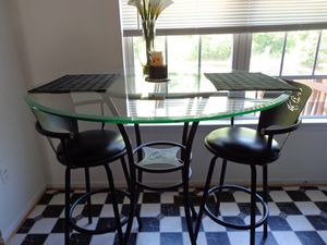 3 piece bistro set counter height for Sale in District Heights, MD