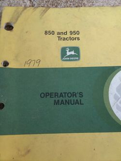 John Deer 850 And950 Manual for Sale in Valparaiso,  IN