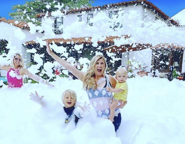 Family Fun Foam Party. Foam machine