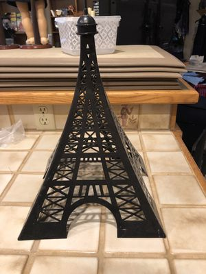 Pink Zebra- Metal Eiffel Tower Candle Shade for Sale in Sandy, UT