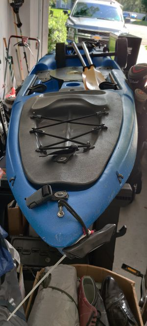 12 foot Malibu Kayak, seat, wheels, anchor, and carbon fiber multi positional paddle for Sale in Lake Mary, FL
