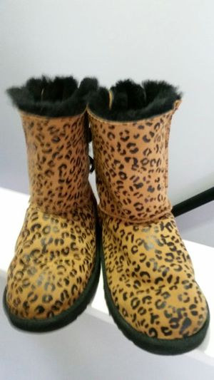 Used, UGG BAILEY BOW LEOPARD BOOTS for Sale for sale  Denville, NJ
