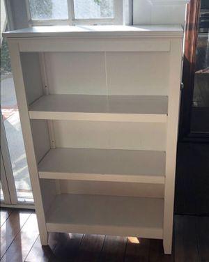 2 Like new-White three shelf bookcases for Sale in Huntington Beach, CA