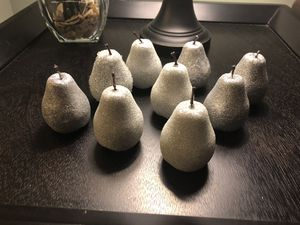 Set of silver glittery pears Christmas decorations. for Sale in Fairfax Station, VA