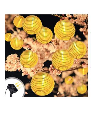 Solar Lantern Warm White Outdoor String Lights 20 LEDs 16.4ft Waterproof Garden Fairy Lights for Sale in Ontario, CA