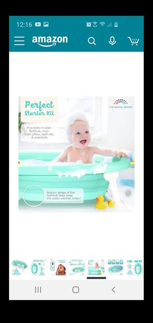 Collapsible baby to toddler tub with insert for Sale in Sacramento, CA
