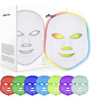 Led Face Mask - Angel Kiss 7 Color Photon Blue Red Light Therapy Skin Rejuvenation Facial Skin Care Mask for Sale in Glendora, CA