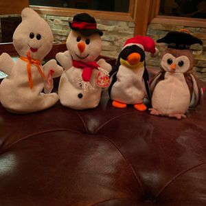 4 Beanie Babies! Spooky, Zero, Snowball, and Wise for Sale in Gig Harbor, WA