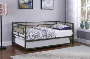Twin Day Bed with Twin Trundle . New In Boxes. Mattress Not included for Sale in Montgomery, AL