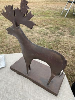 """Metal moose Mantlepiece candleholder 12"""" aprox for Sale in Providence, RI"""