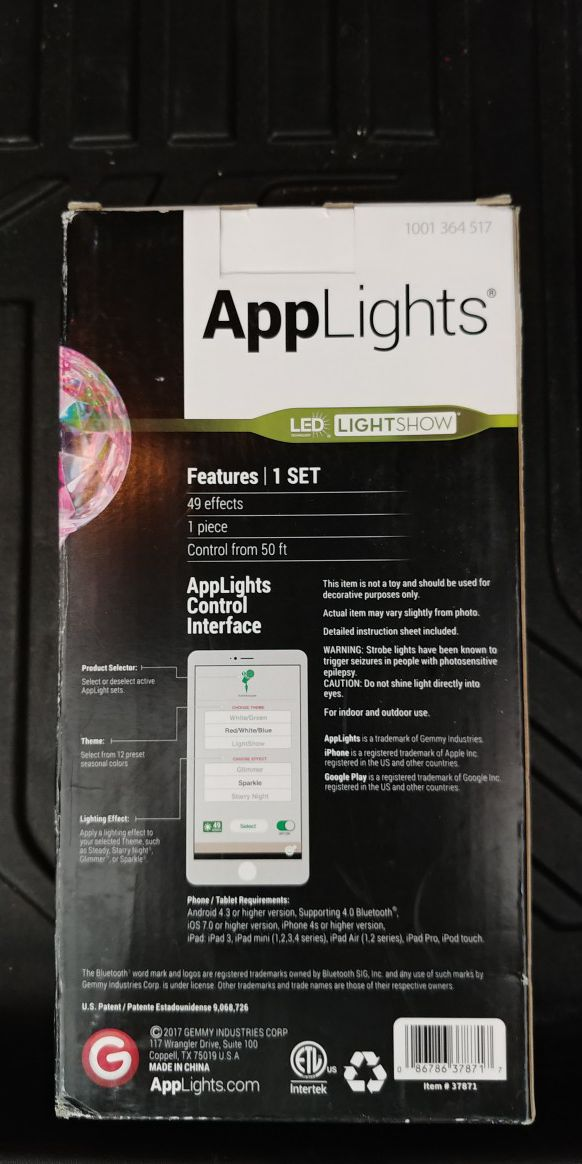 Projection app lights $20 obo