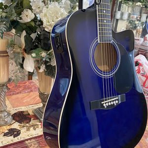 blue fever electric acoustic guitar with metal strings for Sale in Bell Gardens, CA
