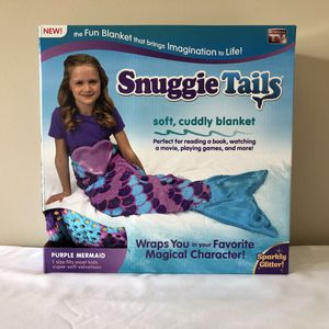 New Snuggie Tails Purple Mermaid Soft Cuddly Blanket! AS SEEN ON TV!! for Sale in Rock Hill, SC