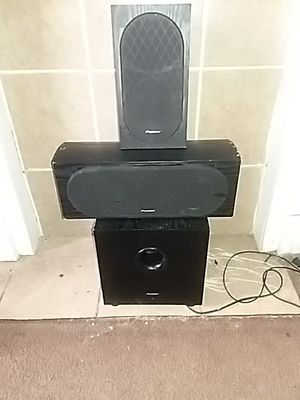 Pioneer surround sound speakers will power sub with Sony amplifier for Sale in Columbus, OH