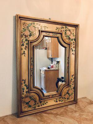 Designer Antique Vintage Peruvian Hand Painted Farmhouse Mirror for Sale in Laguna Niguel, CA