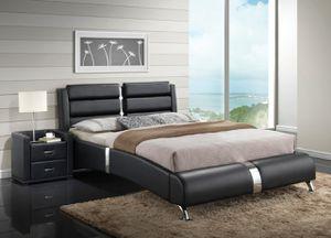 Black Modern Platform Bed $350 or $54 Down for Sale in Dallas, TX
