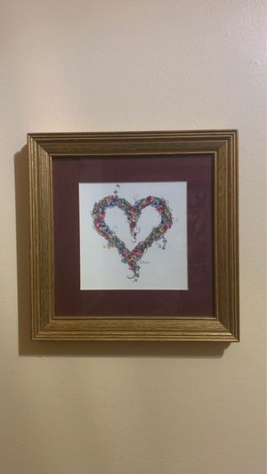 B Mock Wall Art Frame - Heart for Sale in Bolingbrook, IL