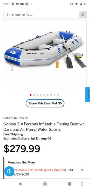 New Inflatable Fishing Boat for Sale in Artesia, CA