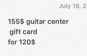 155$ for 120$@ Guitar Center for Sale in Denver, CO