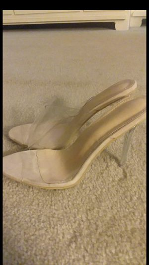 Crystal Clear High Heel Shoes BRAND NEW! L@@K for Sale in Bethesda, MD