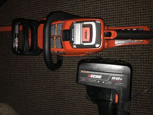 """58v echo 16"""" chainsaw wbattery& charger for Sale in Santa Monica, CA"""