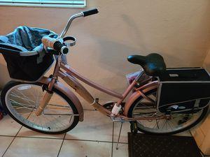 New Huffy Cruiser Bike, Basket, Beverage & Smartphone Holder, Saddle Bag, Storage Rack & Comfortable Seat for Sale in Miramar, FL