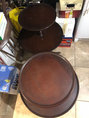2 tables double tray antiques for Sale in Miami, FL