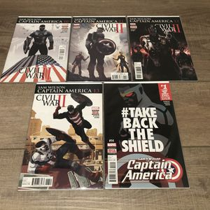 Marvel Comics Civil War II Sam Wilson Captain America #10 11 12 13 14 for Sale in Los Angeles, CA