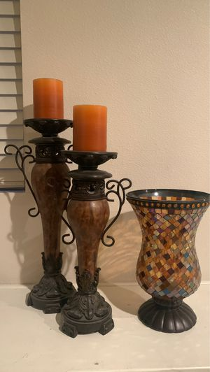 Candle stands & vase for Sale in Downey, CA