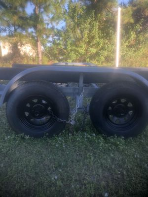 Trailer magic 98 Fron 20 to 24 feet used trailer new tires and good condition 1,350 $ for Sale in Lehigh Acres, FL