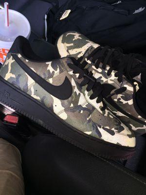 Camo 3M Nike air forces for Sale in Oakton, VA