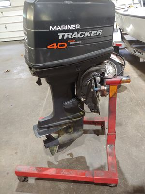 1994 40HP Mariner Tracker outboard with cables for Sale in Mount Airy, MD