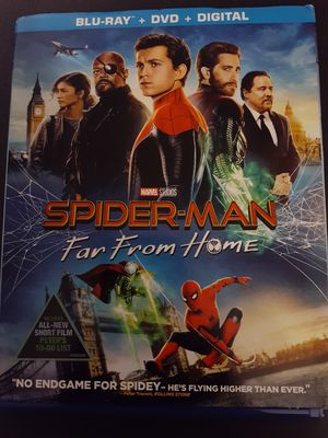 Marvel SPIDER-MAN Far From Home (Blu-Ray + DVD) ZENDAYA! for Sale in Lewisville, TX