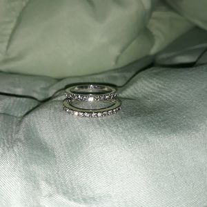 Set 2 Piece 925 Sterling Silver Wedding Ring, Size 6. for Sale in Dallas, TX