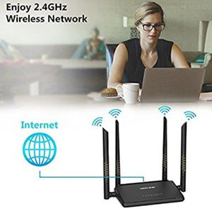NEW! WiFi Router, N300 Wireless Wi-Fi Router with Smart APP and 4x5dBi Antennas, Free Parental Controls, Good for Small House and Office for Sale in Stuart, FL