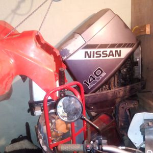 Nissan 140 Plus Outboard Boat Motor. Runs Good But Missing Throttle Control And Ignition Box But Is Compete With Prop And Engine Cover.$1000.00 Obo for Sale in Everett, WA